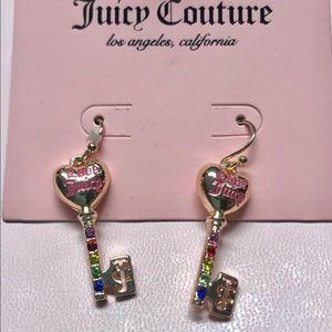 Juicy Couture earrings newer line multi color key